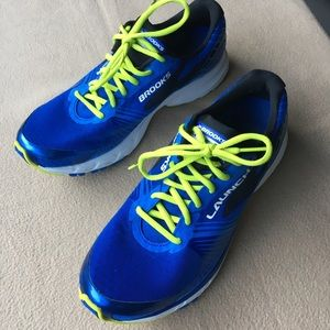 Brooks Shoes - Brooks Launch 3, royal blue-neon green, M10